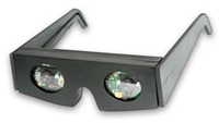 The prototype interface built into the bezel glasses