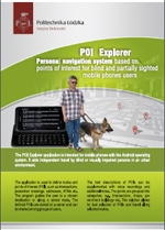 POI  Explorer Personal navigation system - leaflet in English